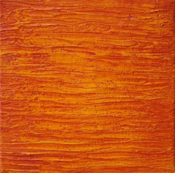 Western Port Study (Orange) 20 x 20 cm