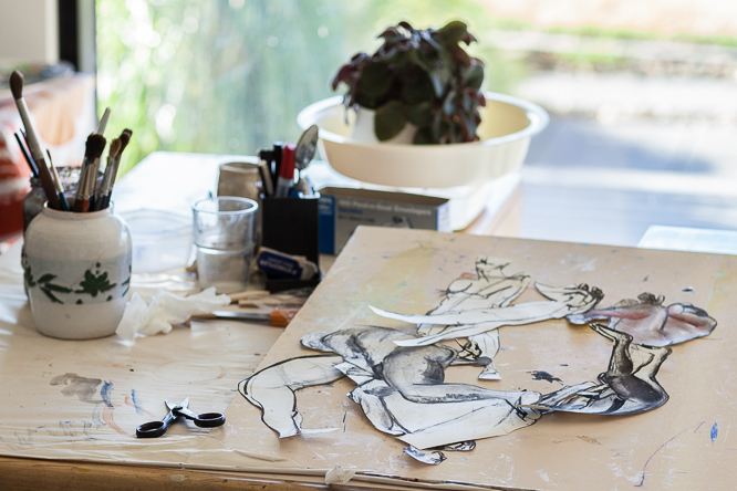 Sandra's studio