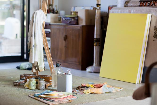 Warren's studio